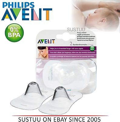 Avent Breast Feeding Silicone Protective Sheilds To Prevent Sore│Cracked Nipples