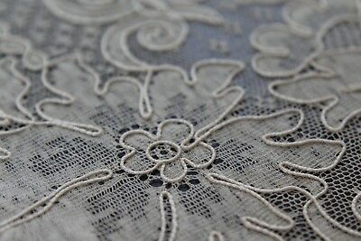 Vtg Antique French Alencon Lace Table Runners 2pcs NOS w/ Original Tags