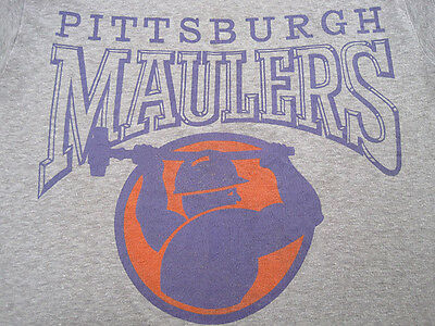 SOFT!! 1983 vtg PITTSBURGH MAULERS usfl T SHIRT 80s FOOTBALL 50/50 extra small