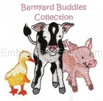 Barnyard Buddies Collection - Machine Embroidery Designs On Cd