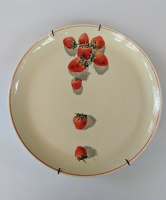 "Vintage W.S. George Cavitt-Shaw Strawberry China 10"" Dinner Plate With Hanger"