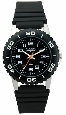 Adora Young Line Sporty Child's Watch Made of Aluminium Analogue Black 29404