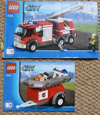 Lego Instruction Manual Book Booklet Only 7239 Fire Truck City Fire