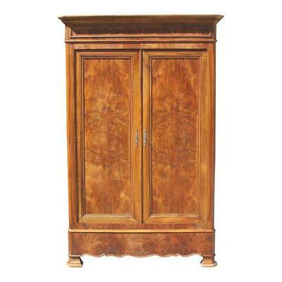 19th Century French Louis Philippe Walnut Armoire Period Chateau Circa 1900s