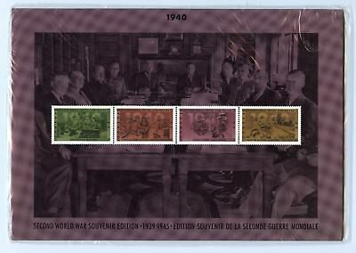 Weeda Canada Thematic Collection #48, 1990 WWII 1940 folder CV $10