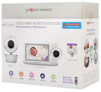 "Project Nursery 4.3"" Baby Monitor System with 1.5"" Mini Monitor - White"