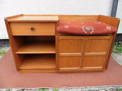 Parker Knoll Teak Telephone Seat, Cupboard, Chest, Clean. Vintage Nathan Style.