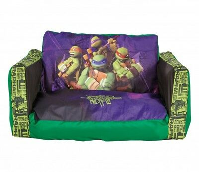 Kids Character Flip Out Mini Sofa and Lounger Inflatable With Removable Cover