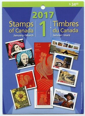 Weeda Canada 2017 January-March Quarterly Pack, sealed! Face value $36.10
