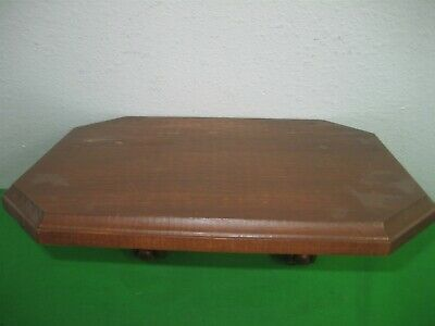 ea612d7255f Vintage Brown Wooden Wall Display Shelf 11.5
