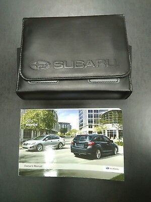 2014 Subaru Impreza Owner's Manual and Glovebox Pouch