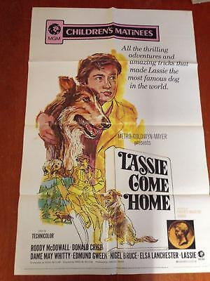 LASSIE COME HOME Roddy McDowall Elsa Lanchester Original Movie Poster