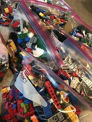 Clean 100% Genuine LEGO 2 LB Lots pounds Bulk Lot Sanitized People Tires Trees