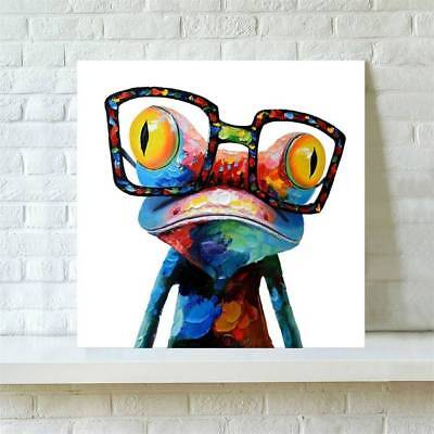 Abstract Huge Wall Art Oil Painting on Canvas : Glasses Frog(Not Framed) Modern