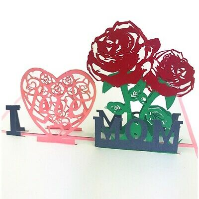 3D Pop Up Cards I Love You Birthday Happy  Mothers Day Best Mom Ever Thanks Gift