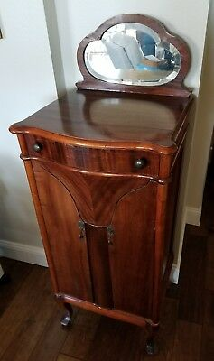 Beautiful Herzog Antique Sheet Music Cabinet   Take A Look!