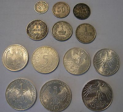 German 100 year silver type set 1875 - 1975