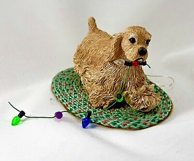 Sandicast Cocker Spaniel, Buff, ornament H007 resin figurine 2005