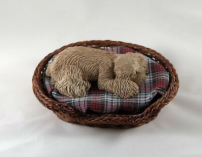 Sandra Brue Cocker Spaniel sleeping resin figurine