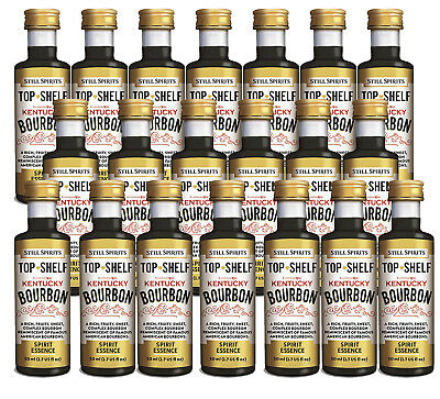 20 x Still Spirits Top Shelf Kentucky Bourbon Home Brew Essence
