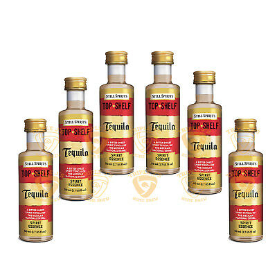 6 x Still Spirits Top Shelf Tequila 50ml Essence Home Brew  FP