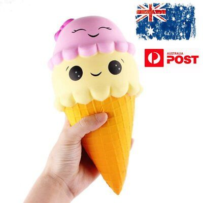 Squishy Ice Cream Cone Jumbo Slow Rising Soft Squeeze Stress Toy Gifts Large AU
