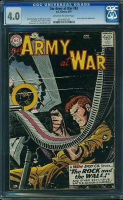 Our Army At War #83 CGC 4.0 DC 1959 1st Sgt. Rock Holy Grail War Book H3 226 cm