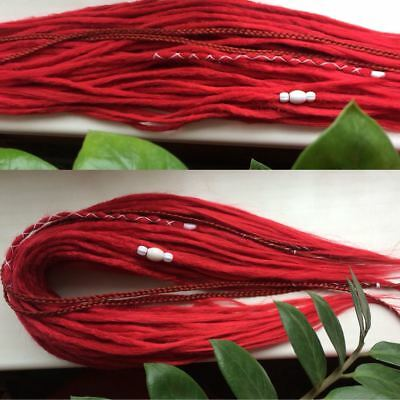 Synthetic red double ended DE dreadlocks