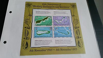 British Indian Ocean Territory 1975 Sg Ms8510Th Anniv Of Maps Used