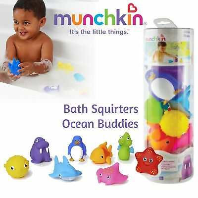 Munchkin Bath Squirters│Ocean Buddies│Animal Themed Rubber Toy│For 9+ Mounth│8PK