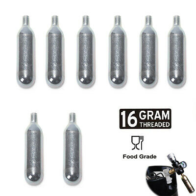 8 x Brand New Spare 16 gram CO2 Cartridges 4 mini keg home brew charger  FP