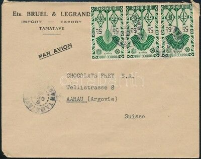 Madagascar stamp Airmail cover to Switzerland Cover,Airmail 1947 WS251435