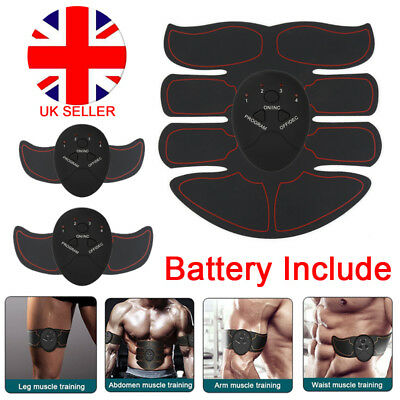 New EMS Trainer Abs Abdominal Toning Muscle Toner Gym Home Smart Fitness Belt UK