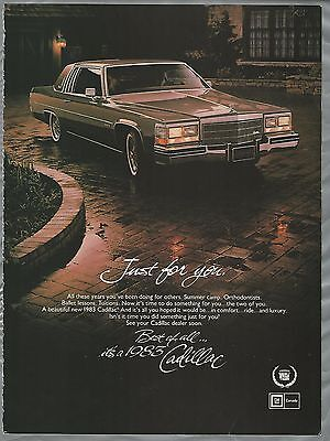 1983 CADILLAC Brougham advertisement, Canadian advert, Cadillac coupe