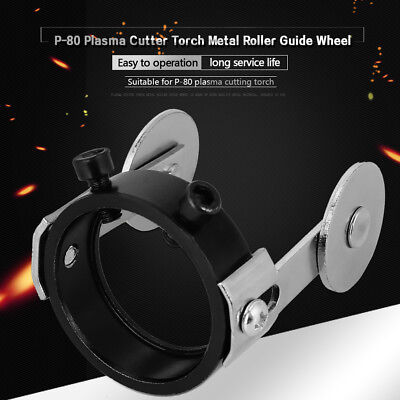 P80 Plasma Cutter Torch Metal Roller Guide Wheel with Two Screw Positioning New