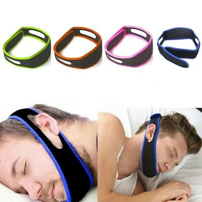 Snore Stop Belt Anti Snoring Cpap Chin Strap Sleep Apnea Jaw Solution 4 Color