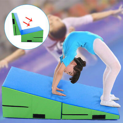 Incline Gymnastics Mat Wedge Ramp Gym Exercise Aerobics Tumbling Folding Mat