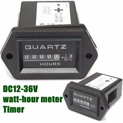 Hour Meter Time Gauge For Tractor Truck Boat Mower Generator Engine Excavator