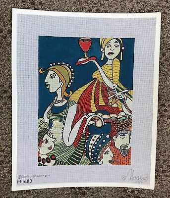 PARTY HANDPAINTED NEEDLEPOINT CANVAS  by Maggie