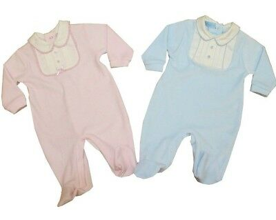 Bella Bambini Baby Boys Girls Spanish Style Romany Velour Babygrow Outfit