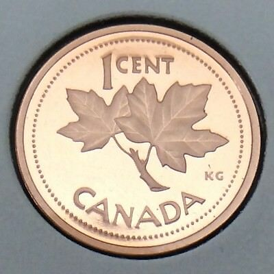2002 Canada Proof 1 One Cent Penny Canadian Uncirculated Coin E895