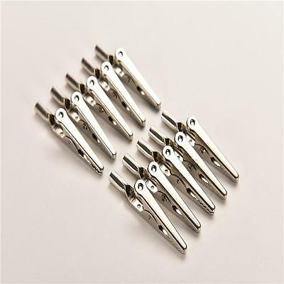 Single Prong Alligator Clips With Teeth Aligator Stainless Steel Clips <Z