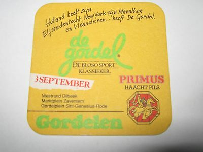 S-B coasters bierdeckel  PRIMUS DE GORDEL 3 SEPTEMBER