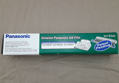 Genuine Panasonic Ink Film KX-FA93 Fax Machine for KX-FHD331/KX-FHD332/KX-FHD351