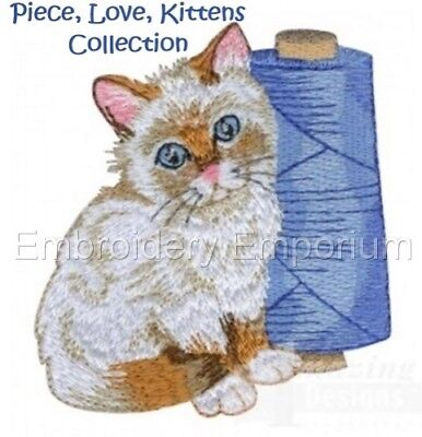 Piece, Love, Kittens Collection - Machine Embroidery Designs On Cd