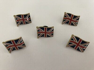 50 UNION JACK FLAG ENAMEL PIN BADGES WHOLESALE- wavy design