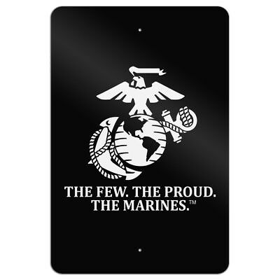 Marines USMC The Few The Proud Black Home Business Office Sign
