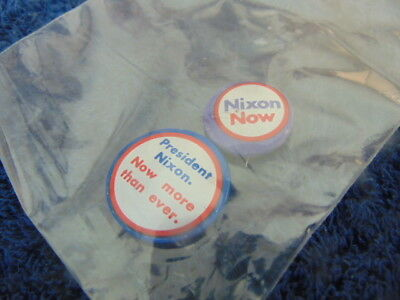 Original Nixon Now More Than Ever and Nixon Classic Campaign Buttons