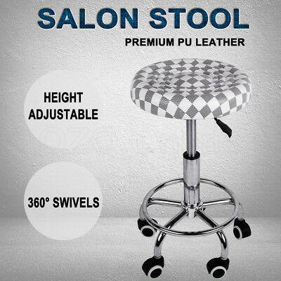 360° Salon Stool Hairdressing Swivel Barber Chair Seat Beauty Hydraulic Lift PU