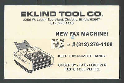 1967 PC Eklind Tool Co Sells Fax Machines Chicago IL